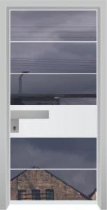 דלת מדגם יהלום 1055